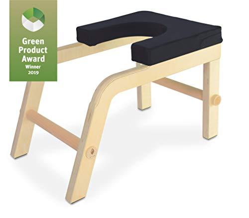 SIYA® Yoga Kopfstandhocker aus Holz - Green Product Award - Ergonomisch, Komfortabel und Nachhaltig - Schatten