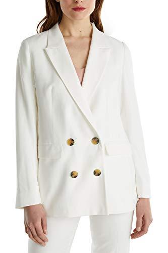 ESPRIT 040eo1g304 Blazer, 100/Bianco, 36 Donna