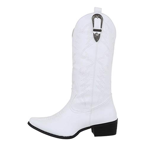 Ital-Design Damesschoenen Cowboy laarzen