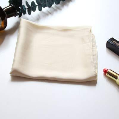 YDMZMS sjaal, vierkant, eenkleurig, 70 cm, voor het haar, van zijde, voor vrouwen, professionele sjaal voor vliegen en sjaal, klein, beige