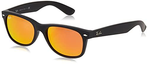 Ray-Ban 2132, Gafas de Sol Unisex, Multicolor (Rubber Black), 55 mm