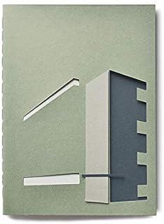 Quaderno di Architettura - Bauhaus - cucito a mano - (formato 20 x 15 cm) - cucito a mano - fogli bianchi - realizzato int...