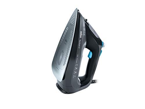 Braun TexStyle 9 SI 9188 Dampfbügeleisen | 2.800 W | Dreiecks-Dampfstoß: 230 g/min | Variabler Dampf: 50 g/min | 330 ml Wassertank | Schwarz