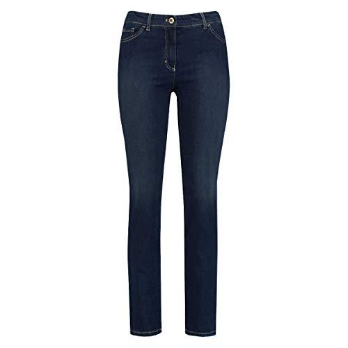 Gerry Weber Hose Jeans LANG Straight FIT, dunkel-blau(darkblue) (Dunkel-blau, 48K)