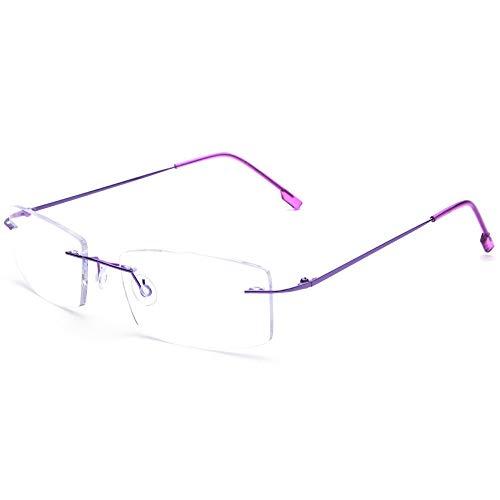 Gafas de lectura sin montura Lentes de lectura de titanio ligeros Hombres Mujeres +0.75 Aumento