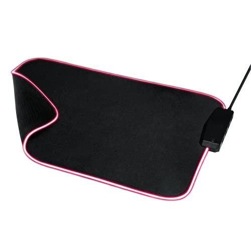 Trust Gaming GXT 765 Glide-Flex RGB - Tappetino per mouse e hub USB (350 x 250 mm, illuminazione LED RGB multicolore, illuminazione accensione/spegnibile, cavo intrecciato da 1,2 m, colore: Nero