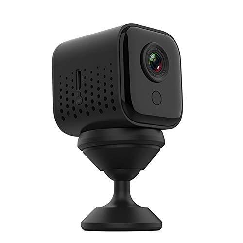 Cámara inalámbrica de seguridad para el hogar compacta Mini cámara interior Cámara WiFi con soporte giratorio