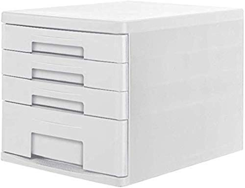 Ablageschränke Aktenschränke Vertikal 4 Schubladenschrank Datenspeicherschrank Datei-Aufbewahrungsbehälter aus Kunststoff Schrank 26.3X34X25cm Home Office Möbel Bürobedarf (Color : Gray)