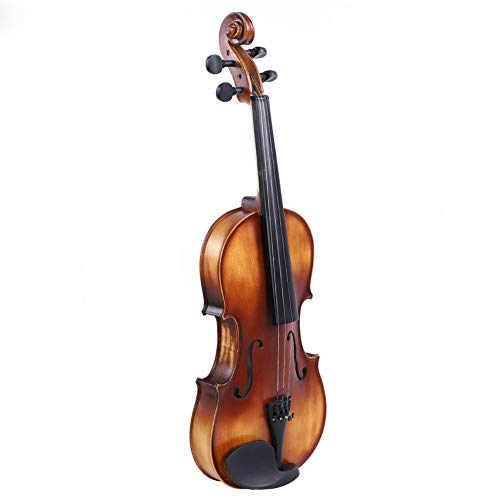 Violine Geige, Fichte Holz 4/4 Violine mit Aufbewahrungskoffer Bow Kolophonium Zubehör für Anfänger Anfänger