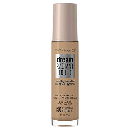 Maybelline Dream Radiant Liquid Hydrating Foundation with Hyaluronic Acid - Honey Beige 90, Honey Beige