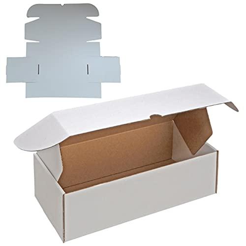KULTIVERI Pack 25 Cajas Carton Kraft Blancas 30,1x15,5x9 cm. para Envios Automontables I Paquetes para Ecommerce y Regalo.