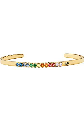 Michael Kors Damen-Armreif 925er Silber One Size Gold/mehrfarbig 32013110