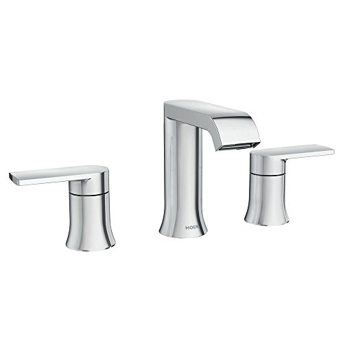 MOEN Genta 8 in. Widespread 2-Handle Bathroom Faucet in Chrome
