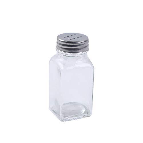 JINGMEIQQ Tarro De Especias,Botella De Vidrio Cocina Condimentos Sazonador De Pollo En Polvo Pimienta Sésamo Esencia Msg Azúcar Granulada BBQ Spice Jar Jar Sazonador Transparente Inicio