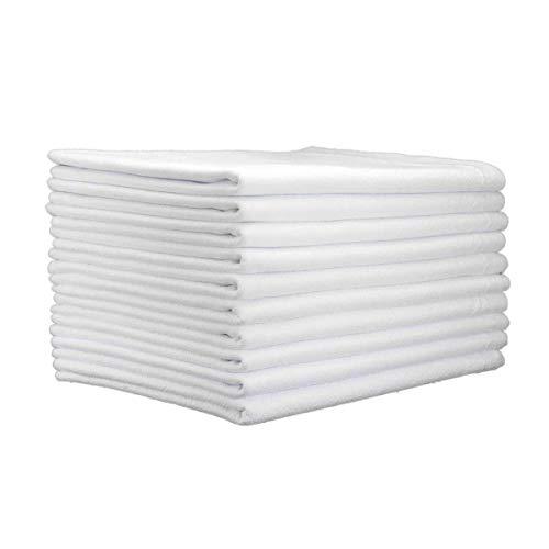 Pano De Prato Liso Branco Legitimo Pé De Galinha 20 Un