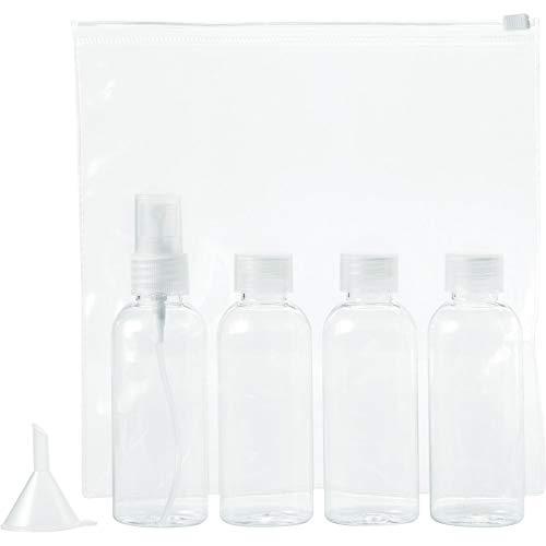 BULLET Set de bouteilles de voyage approuvé par Tokyo Airline (18.5 x 3.7 x 18cm) (Transparent)