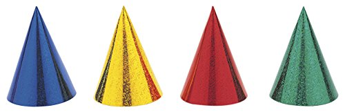 Prism Party Hats, Assorted Colours Pack of 8