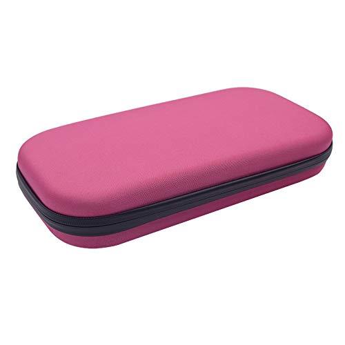 Estojo de transporte de estetoscópio DragonPad, organizador médico para estetoscópio rígido e caixa de armazenamento protetora – estojo de EVA para viagem acessórios médicos e enfermeiros rosa