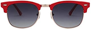 GKB CHAMP CH S0616D CO3 POLARIZED Club Master Red full rim sunglass for kids with Grey lens, 50mm