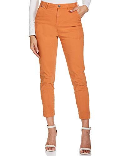 Amazon Brand - Symbol Women's Slim Pants (SYMSS20BT57_Mustard_XS)