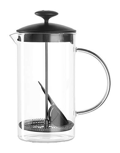 Leonardo Kaffeebereiter Caffè per me, 4-teiliges Set, 1,2 l, hitzebeständiges Glas, 025507