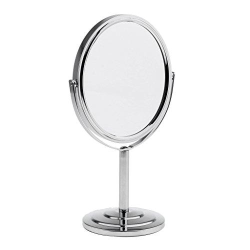 IPOTCH Miroir De Table Pivotant 360 Degrés Recto-verso Normal Et Grossissant Miroirs De Maquillage