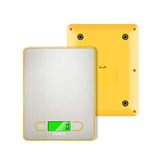 KXY Básculas De Cocina Digitales, 5 kg Básculas Electrónicas Alimentos Multifuncional, 1g Precisión en ml/oz/LB/Gramo, Pantalla LCD, Escala de Alimentos