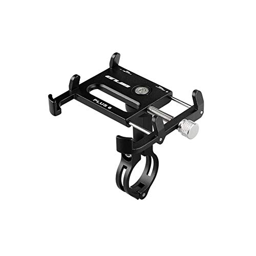 Aluminum Bicycle & Motorcycle Phone Mount , Bike Phone Holder with 360° Rotation Adjustable for iPhone 7s 8 Plus, Samsung S7/S6/Note5/4 GPS Mount 4.2 to 6.5 Inch (Black)