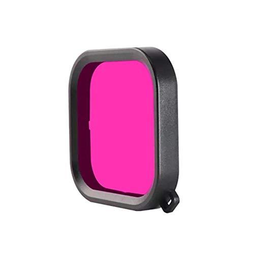 Quintion Child Caja Protectora Resistente al Agua púrpura/Rojo/Rosa Filtro de la Lente de Buceo for GoPro héroe 8 Negro (Color : Purple)