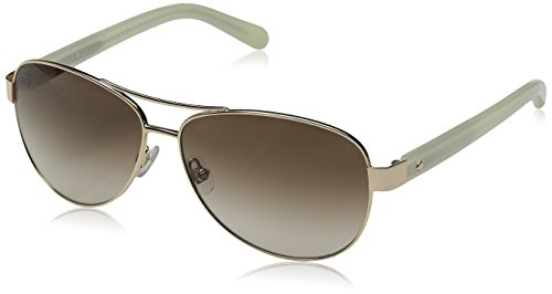 Kate Spade New York Women's Dalia 2 Aviator Sunglasses, Gold & Brown Gradient, 58 mm