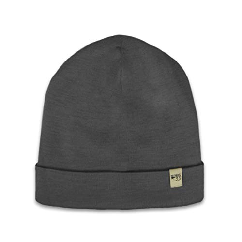 Minus33 Merino Wool Ridge Cuff Wool Beanie Charcoal Grey One Size