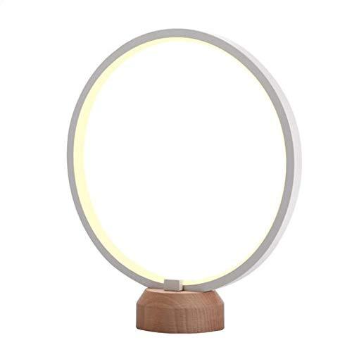 ZHENAO Lámpara de mesa de madera moderna lámpara de mesa de madera de haya natural de calidad LED lámpara de mesa de oficina lámpara de escritorio
