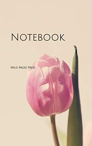 Notebook: Tulip Pink Blossom Bloom Flower Back Yoga Cloth Cleaning Clean Dust Dusting Folder