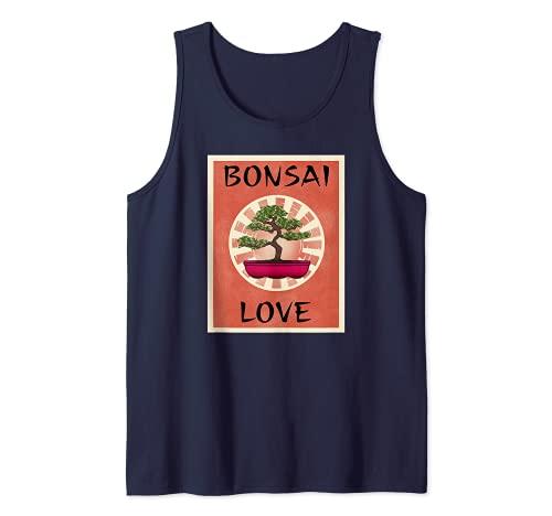 BONSAI LOVE - Ventilador para árbol en miniatura, diseño de árbol Camiseta sin Mangas