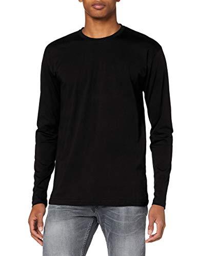 Lower East Camiseta de manga larga Hombre, Pack de 5, Negro, XL