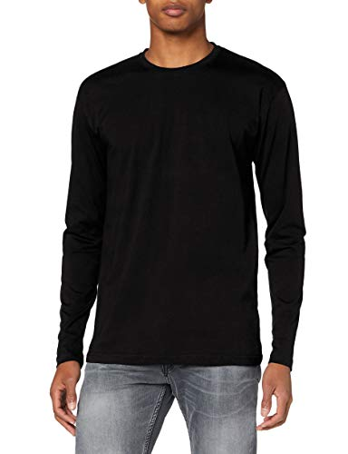 Lower East Camiseta de manga larga Hombre, Pack de 5, Negro, S