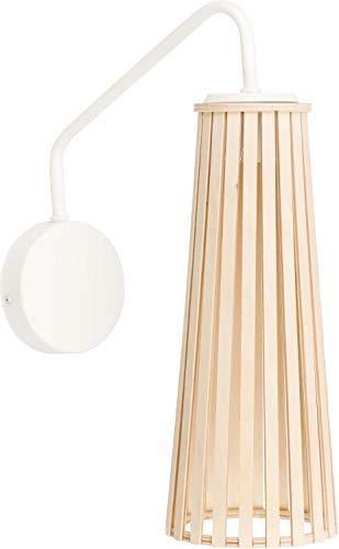 Preisvergleich Produktbild Wandlampe Verstellbar Weiß Holz Schirm Geometrisch Länglich Metallgestell Schlafzimmer Wandleuchte