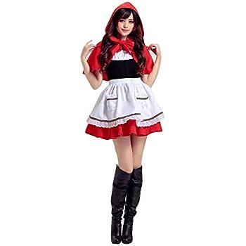 thematys® Disfraz de Caperucita Roja para Mujer Carnaval y ...