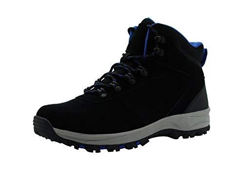 Amazon Essentials Men's Round Toe Lace-Up Boot Hiking Shoe, Black, 10 Medium US