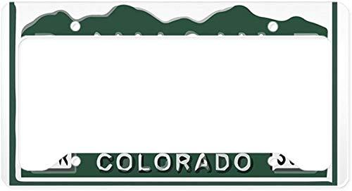 Fhdang Decor P-Nuckle Colorado Kennzeichenhalter aus Aluminium für Nummernschildhalter, Autozubehör, 15,2 x 30,5 cm