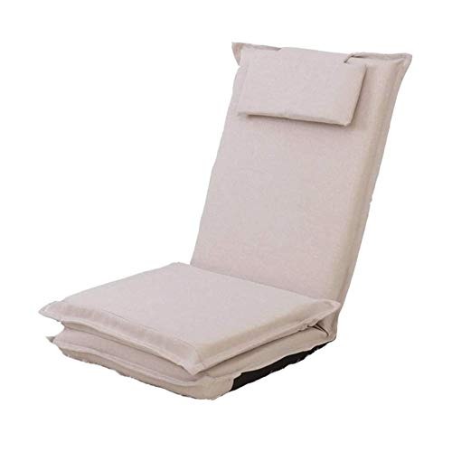 WSDSX Folding Armchair Beanbag Bed Chair Indoor and Outdoor Extra Large Gaming Seat Weather Resistant (Color : Beige)