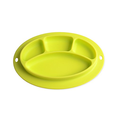INCHANT Kids Silicone Placemat and Baby Plate Tray for Infants toddlers Kids and Chidern,Highchair Feeding Tray Placemat Bowl, Non slip Toddler Feeding Plate Mat - FDA Approved,Easy to Clean