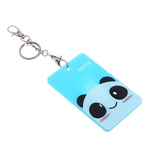 YeahiBaby Funda tarjeta identificación para autobús metro equipaje (Panda verde)