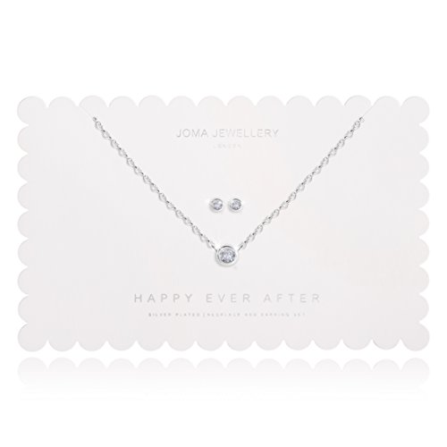 Joma Jewellery Happy Ever After Crystal Necklace and Earrings Set