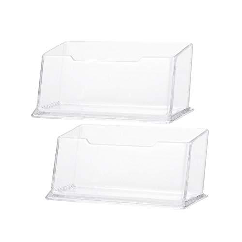 Vosarea - Lote de 20 fundas acrílicas transparentes para tarjetas de visita de oficina, tarjetas de visita, caja de almacenamiento
