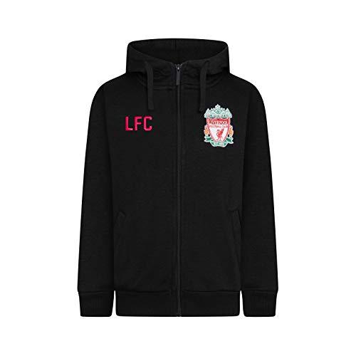 Liverpool FC - Herren Fleece-Sweatjacke - Offizielles Merchandise - Geschenk für Fußballfans - Schwarz - L