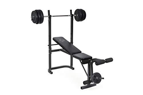 O'Fitness - Banc de musculation avec barre + poids 20KG inclus