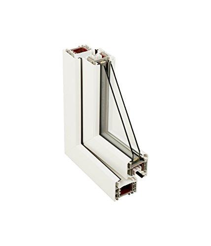 Finestra PVC praticabile Oscilobatiente a destra 500 larghezza x 700 altezza 1 foglio con vetro Carglass