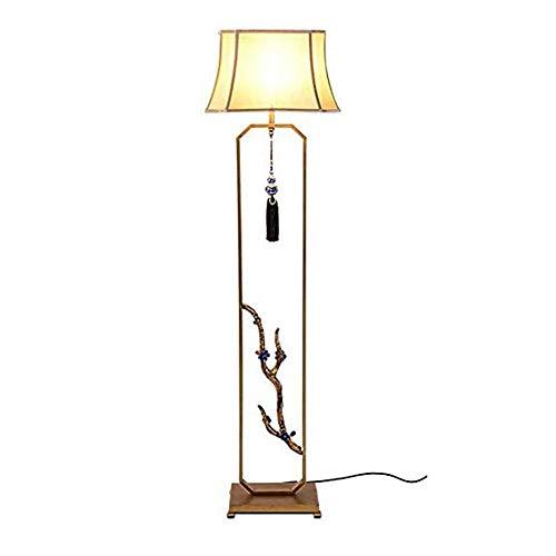 XYUN woonkamer, hotel, kamer, vloerlamp woonkamer slaapkamer ijzer vloerlamp vintage verticaal vloerlicht stof lampenkap decoratieve lamp