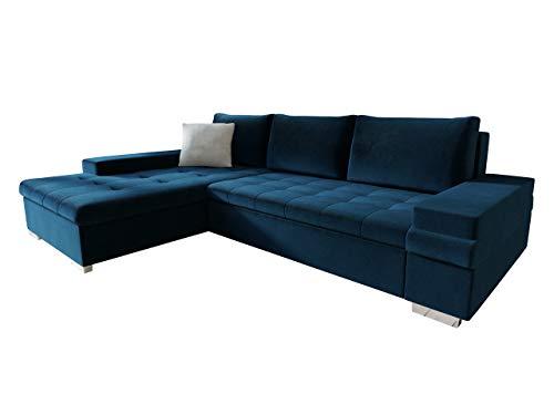 Mirjan24 Design Ecksofa Bangkok Mini, Moderne Eckcouch mit Schlaffunktion und Bettkasten, Ecksofa für Wohnzimmer, Gästezimmer, Couch L-Form, Wohnlandschaft (Kronos 9 + Paros 5)